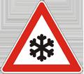Zeichen Schnee Eisglätte