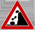 Zeichen Steinschlag
