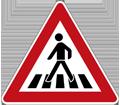 Zeichen Fußgängerübergang